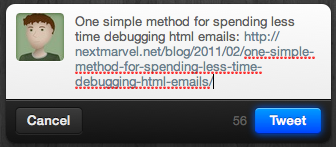 Twitter for Mac's Link Shortening