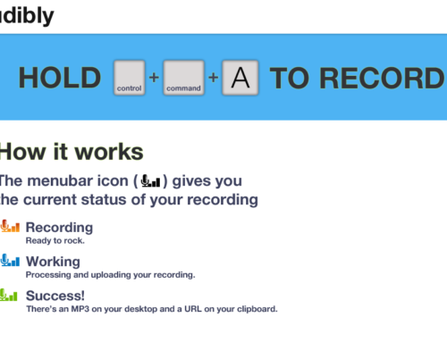 Audibly: Audio Recording for Everyday Use